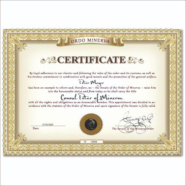 Minerva - buy consul title